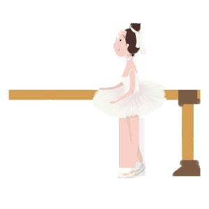 芭蕾女孩免扣png