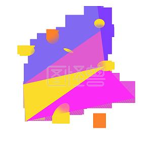 创意立体几何图形免抠图