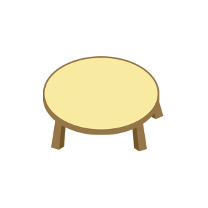 原木圆形可爱小桌子