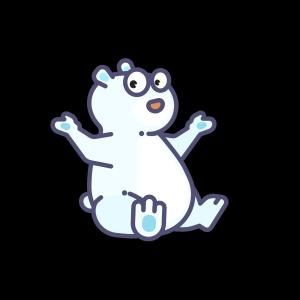手绘卡通小清新北极熊