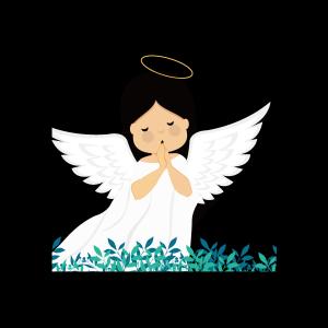 手绘可爱的白衣天使