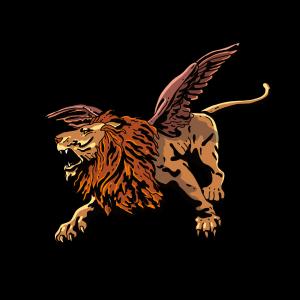 霸气长翅膀的狮子