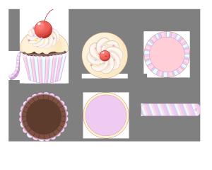 可爱樱桃杯子蛋糕包包三视图