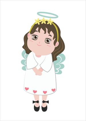 透明底png梦幻奇幻可爱天使