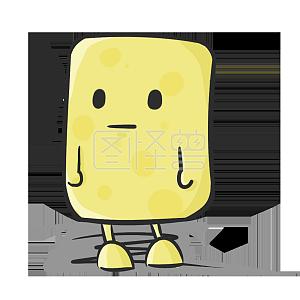一只不知道自己在哪里的小黄油表情包png