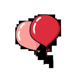 七夕情人节手绘气球