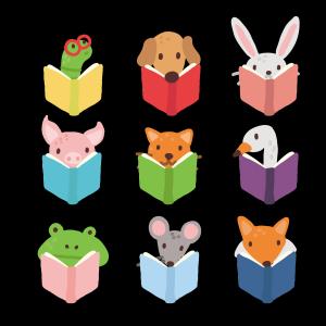 小动物儿童阅读书籍