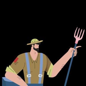 农民田野农夫天然