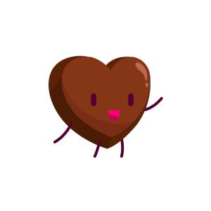浪漫可爱爱心巧克力
