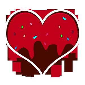 相片情人节红色可爱巧克力爱心png