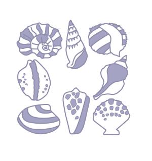 海底贝壳装饰图标