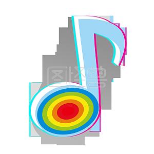 音符浅色抖音音乐图标PNG