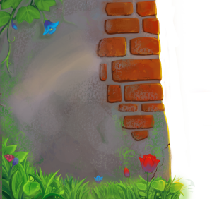 手绘斑驳的红砖墙墙