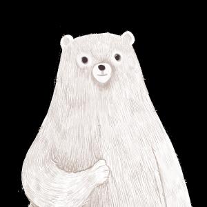 白色的北极熊手绘设计