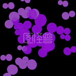 浪漫紫色情人节七夕气泡