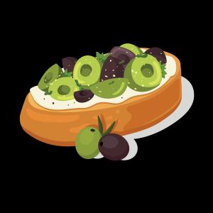 健康低卡橄榄面包