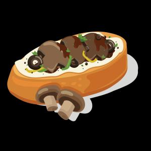 健康低卡蘑菇面包