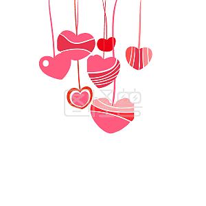 情人节爱心装饰图案