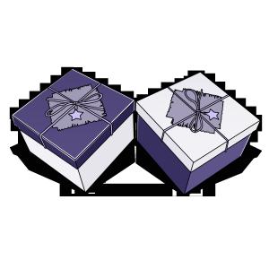 紫色白色高端礼品盒七夕情人节礼物