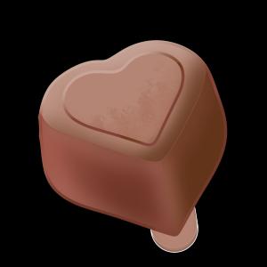 情人节手绘爱心巧克力