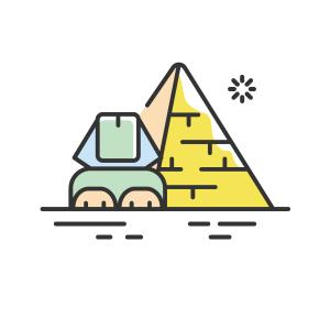 世界旅游MBE风格金字塔景点图案