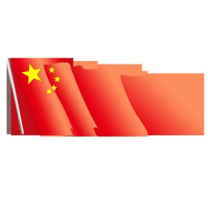 八一建军红色国旗PNG矢量图