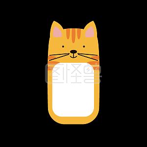 趣味ppt动物小猫装饰