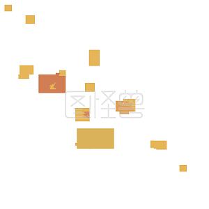 秋天落叶枫叶黄色