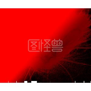 抽象魔幻渐变红黑色png免抠图