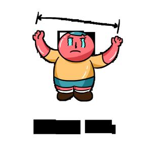 卡通手绘红胖子的日常生活表情包之悲伤那么大
