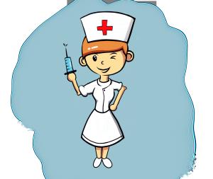 医疗小护士打针治病白衣天使免抠PNG