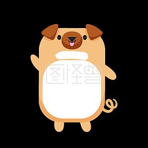 卡通动物小狗装饰背景素材