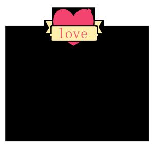爱心情人节贺卡边框图形