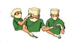 医疗医生在做手术