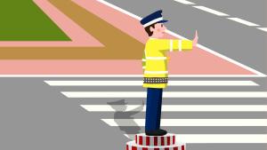 职业人物交通警察