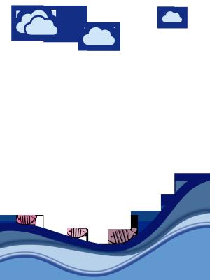海洋风格手绘边框