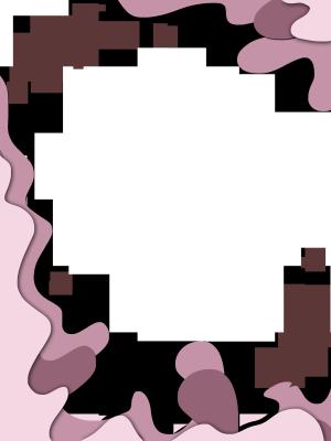 粉色剪纸唯美清新风格边框
