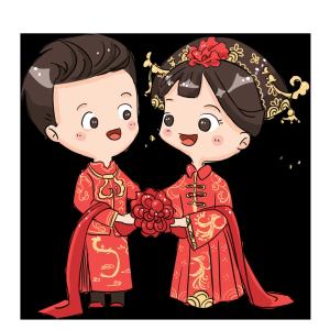 中式婚礼爱人夫妻情侣