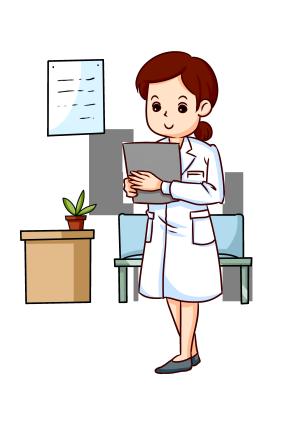 医生白衣天使卡通人物形象图