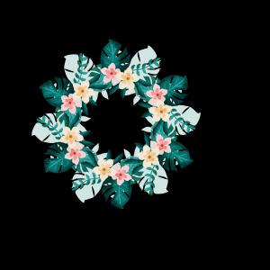 夏威夷风婚礼花圈