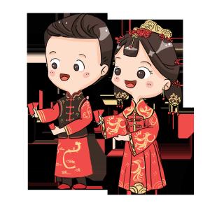 中式婚礼爱人夫妻红包