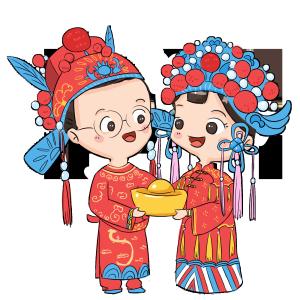 中式婚礼爱人夫妻戏曲