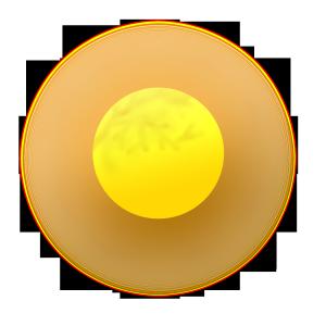 八月十五中秋节圆月黄色温馨