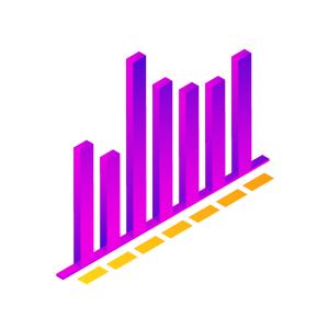 2.5D立体条形数据报表PPT素材
