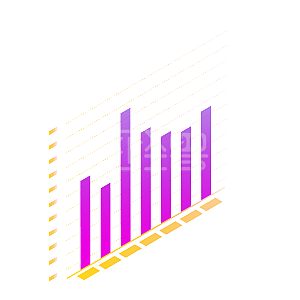 酷炫条形数据报表PPT素材