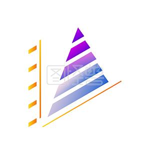 创意金字塔渐变数据报表PPT素材