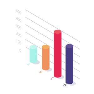 圆柱PPT商务数据报表素材