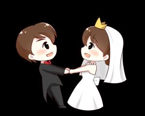 西式双人婚礼系列之爱心满满PNG透明底千库原创