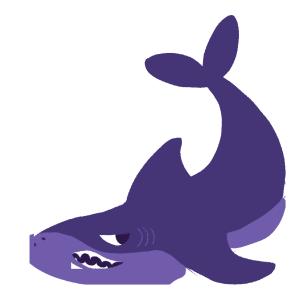 手绘鲨鱼PSD源文件