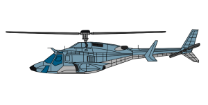 手绘直升机PSD源文件